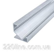 Профиль алюминиевый BIOM угловой ЛПУ17 17х17неанодированный (палка 2м), м