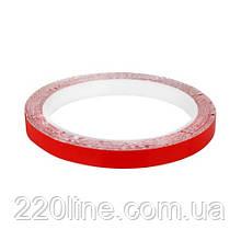 Скотч AT-2s-200-95-10-RED (9,5мм х 10м) тканевая основа, красный