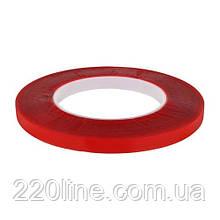 Скотч AT-2s-080-95-10-ACR (9,5мм х 10м) акриловая основа, красный