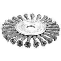 Щетка для электроинструмента Tolsen дисковая плетенная 125 мм х 22.2 мм, стальная проволока 0.3 (77533)