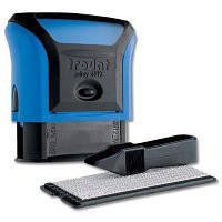 Самонаборный штамп Trodat синий 4-х строчный+касса 6 (4912N/4/U)