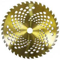 Нож для газонокосилки GARTNER к садовому триммеру вогнутый 255х25.4 мм 40 ТВС зубцов 4.8мм (40038048)