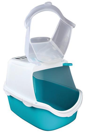 Туалет-домик Vico Easy Clean , 40 х 40 х 56 см, аквамарин/белый