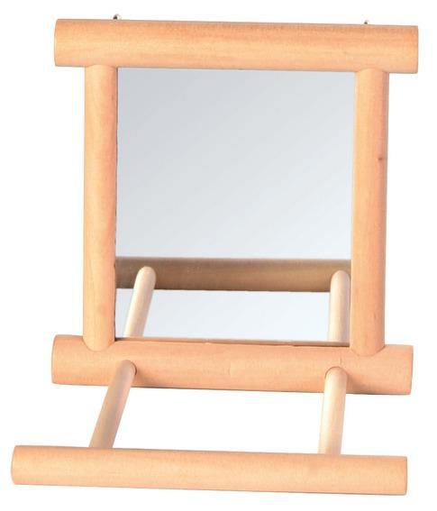 Дерев'яне дзеркало з жердинку 9 х 9 см
