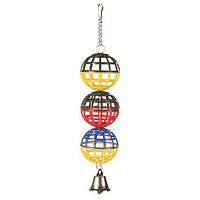 3 пластикиковых шарика ø5 см с колокольчиком