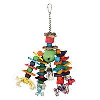 Іграшка для птахів дерев'яна, різнобарвна, 35 см