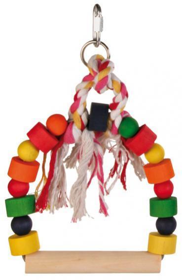 Игрушка для птиц, деревянные качели, 13,5х19 см