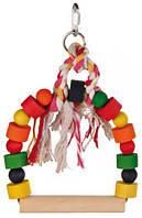 Іграшка для птахів, дерев'яні гойдалки, 13,5х19 см
