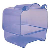 Купалка 15х16х17 см, голубой/прозрачный пластик