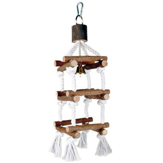 Лестница для попугая 51 см, деревянная