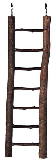 Сходи для папуги 30 см, дерев'яна, 7 сходинок