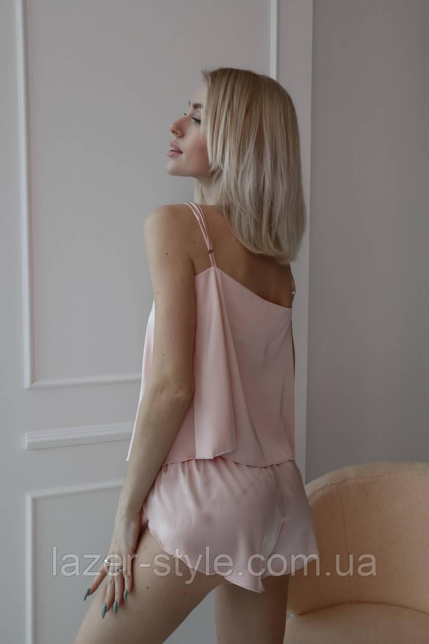 Домашняя шелковая пижама (бежевый) р. S - M