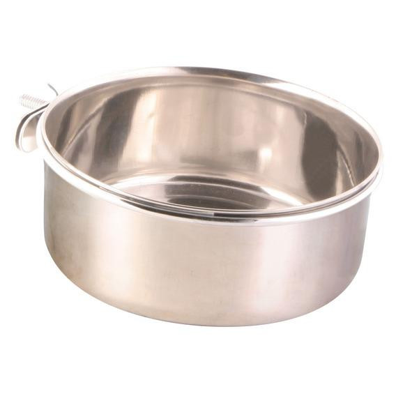 Миска для папуг, з кріпленням, металева, 0,3 л / ø 9 см