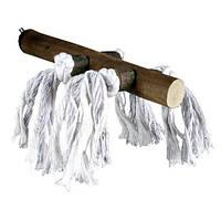 Жердочка деревянная с веревкой, 25 см