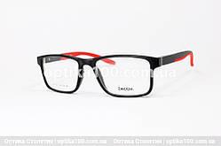 Чорно-червона оправа для окулярів прямокутна. Дужки на флекс-системі. Зручна посадка