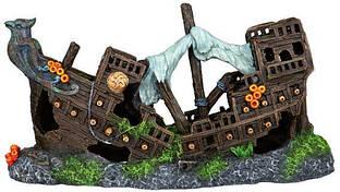 Грот Обломки корабля, подходит для использования в соленой воде, 23 см, пластик