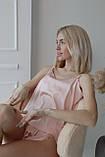 Домашняя шелковая пижама (бежевый) р. L - XL, фото 2