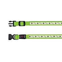 Світиться нашийник для собак USB, S-M: 30-40 см / 25 мм, зелений