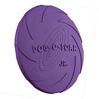 Игрушка для собак диск для игры на воде 18 см, резина