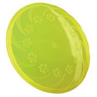 Игрушка для собак диск для фрисби, 18 см, силикон, цвета в ассортименте