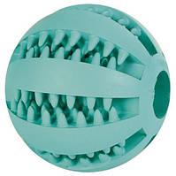 Игрушка для собаки Мяч для бейсбола DENTAfun , 5 см, резина, зеленый