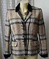 Пиджак женский теплый нарядный жакет бренд M.A.C.S. Munchen р.48 4705а