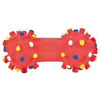 Игрушка для собак Гантель игольчатая 10 см, латекс