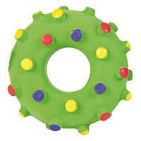 Игрушка для собак Кольцо игольчатое 8 см, латекс