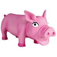 Іграшка для собак Свинка 17 см, хрюкає, латекс