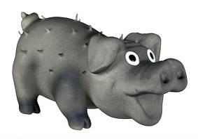 Игрушка для собак Свинка со щетиной , 10 см, латекс