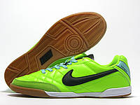 Бампы футзальные мужские Nike Tiempo салатовые  (найк темпо)