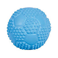 Іграшка для собак м'яч футбольний, 7 см, натуральна гума