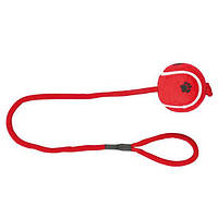 Іграшка для собак Тенісний м'яч на мотузці, 6.5 см / 50 см