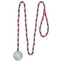 Іграшка для собак м'яч на мотузці, 100 см, 5 см
