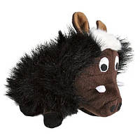 Іграшка для собак Кабанчик хрюкаючий, плюшевий, 25 см