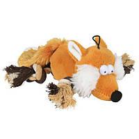 Іграшка для собак Лиса з мотузковими ногами, 34 см, плюш