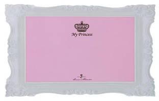 Коврик под миску My Princess для собак, 44 х 28 см, розовый