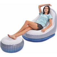 Надувне крісло Jilong + пуф 27497 116 х 98 х 83 см (JL27497)
