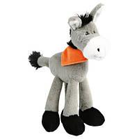 Іграшка для собак Ослик з банданою, 24 см, плюш