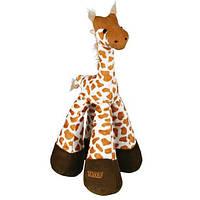 Іграшка для собаки Жираф довгоногий, 33 см, плюш