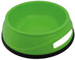 Миска пластиковая для собак 0,5 л/ø14 см