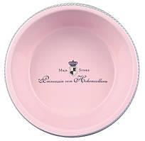 Керамическая миска для собак Princess 0.18 л/ø12 см розовый
