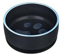 Миска керамічна з гумкою для собак 0.4 л / ø12 см