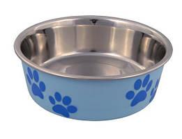 Миска для собак стальная с цветным покрытием 0,25 л/ø12 см