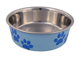 Миска для собак сталева з кольоровим покриттям 1,4 л / ø21 см