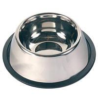 Миска для собак металлическая с резинкой ø15 см/0,9 л