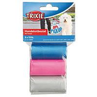 Пакеты для уборки за собаками, 3 л, 3 рулона по 15 шт, цветные, для всех диспенсеров.