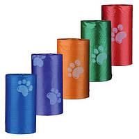 Пакеты для уборки за собаками, 3 л, 8 рулонов по 20 шт, цветные, для всех диспенсеров., фото 1