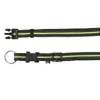 Ошейник для собак Fusion 35–55 см/20 мм, черный/зеленый