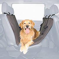Автомобильная подстилка для собак на заднее сидение 1,40 х 1,45 м, чёрный/коричневый